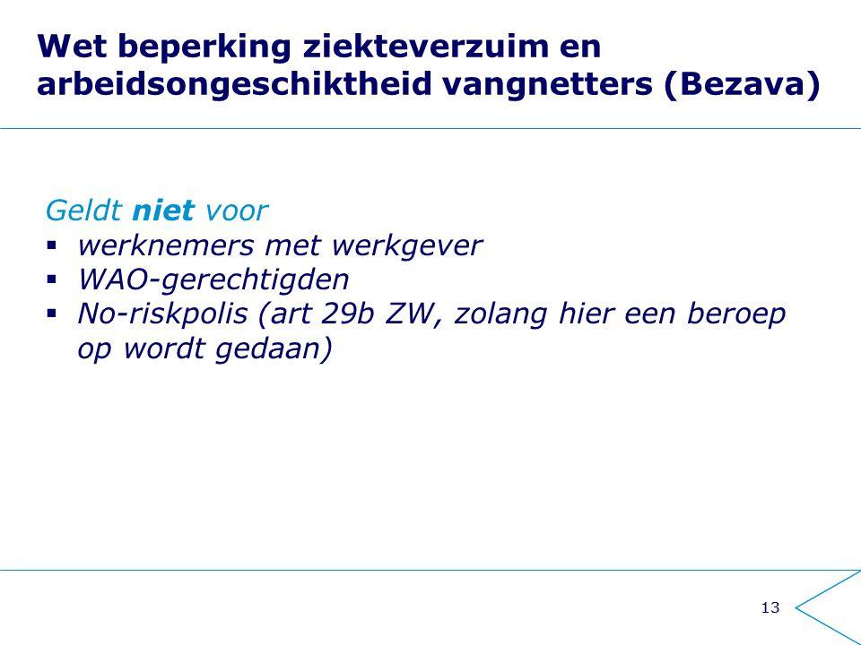 Wet beperking ziekteverzuim en arbeidsongeschiktheid vangnetters (Bezava)