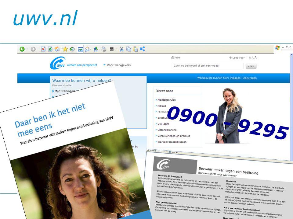 uwv.nl 0900 - 9295