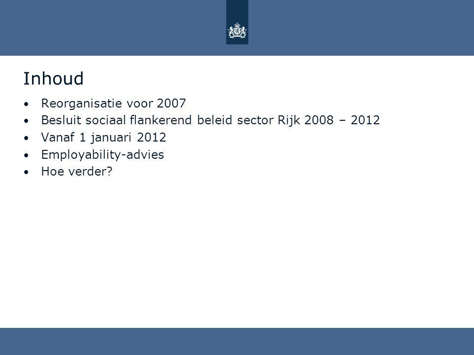 Inhoud Reorganisatie voor 2007