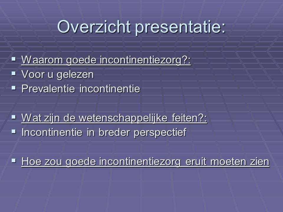 Overzicht presentatie: