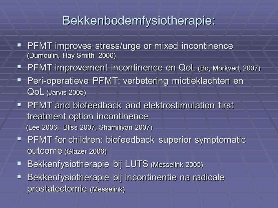 Bekkenbodemfysiotherapie: