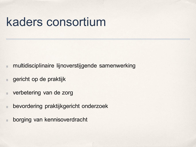 kaders consortium multidisciplinaire lijnoverstijgende samenwerking
