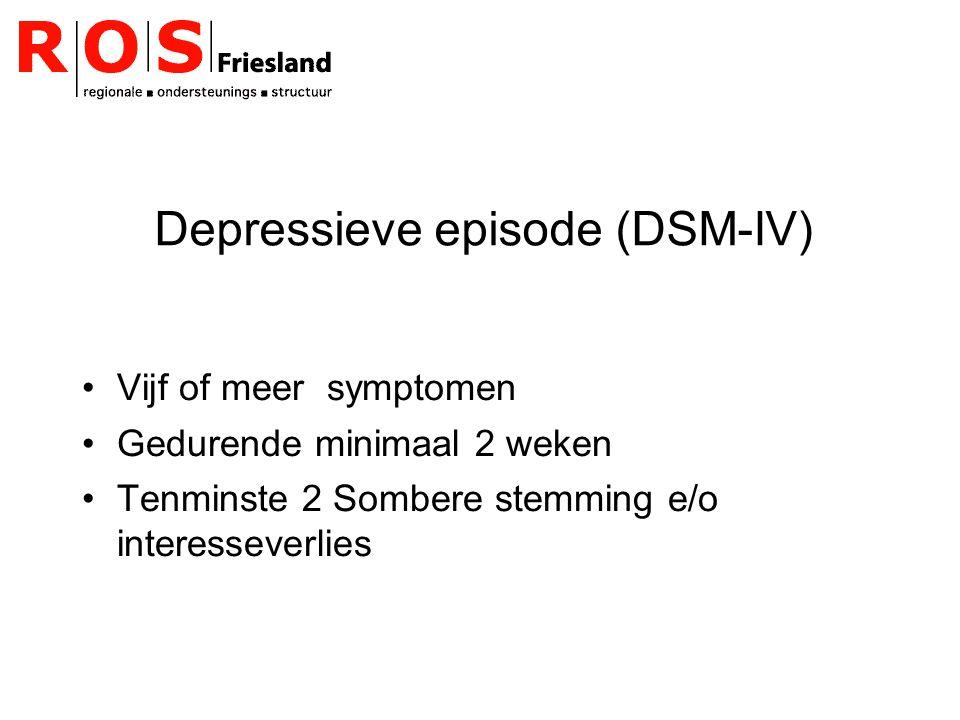 Depressieve episode (DSM-IV)