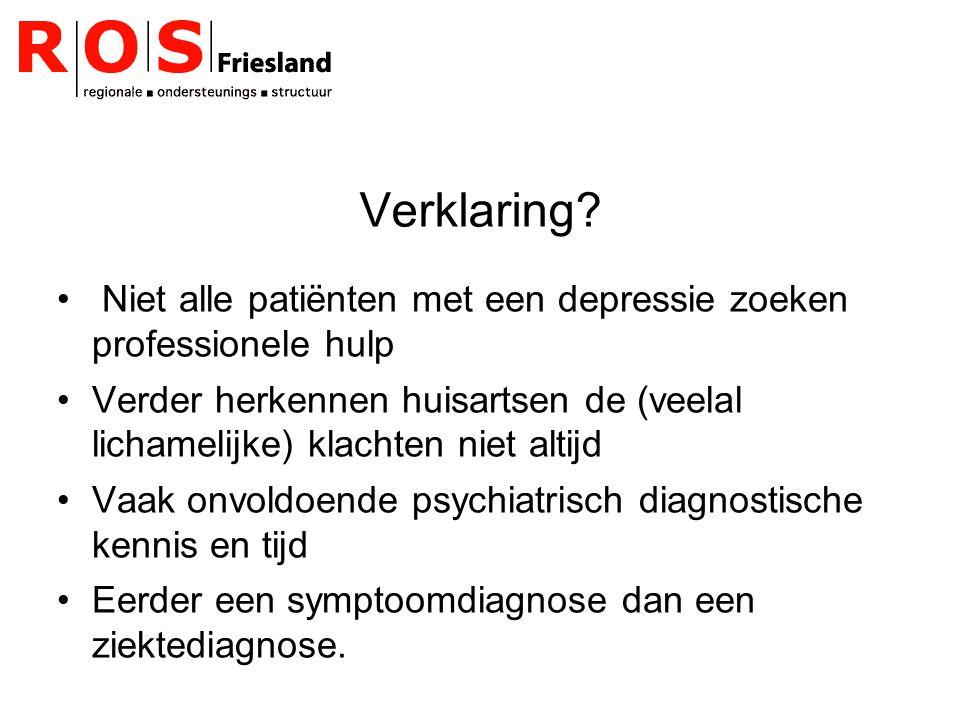 Verklaring Niet alle patiënten met een depressie zoeken professionele hulp.