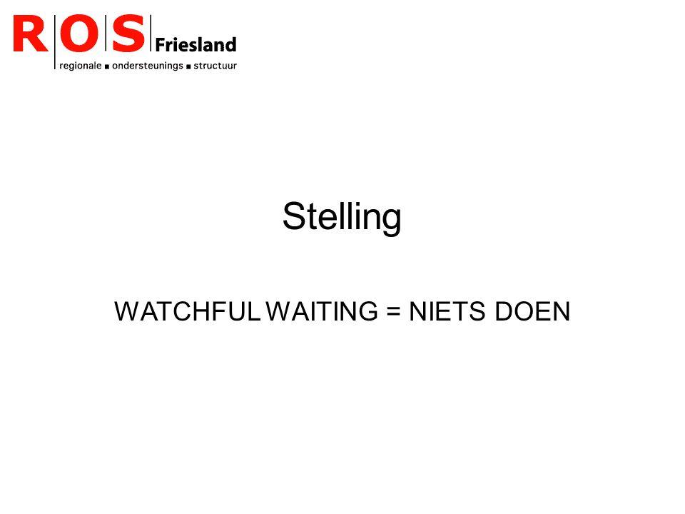 WATCHFUL WAITING = NIETS DOEN
