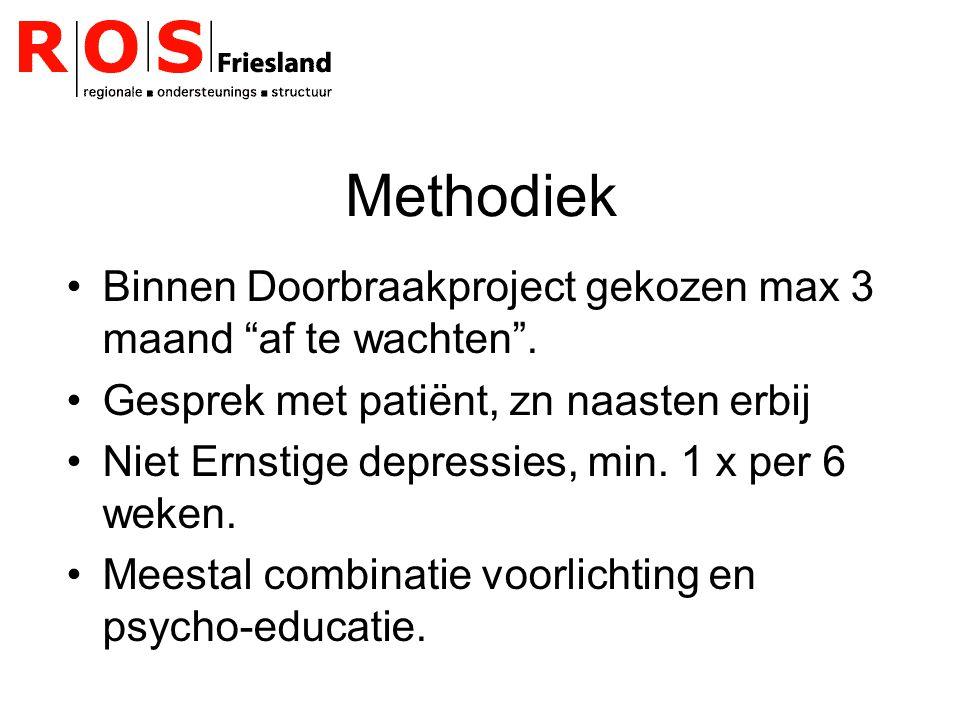 Methodiek Binnen Doorbraakproject gekozen max 3 maand af te wachten .