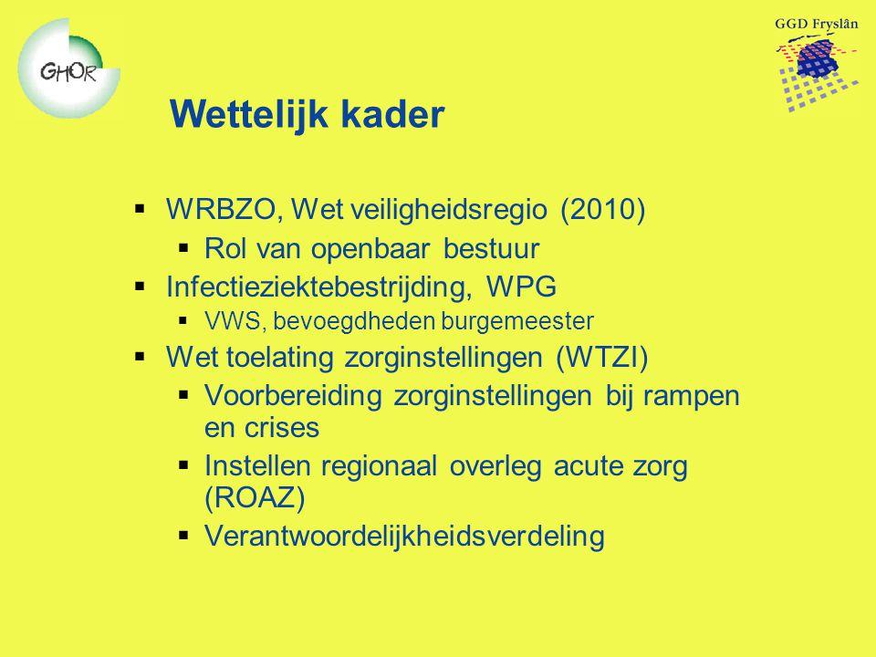 Wettelijk kader WRBZO, Wet veiligheidsregio (2010)