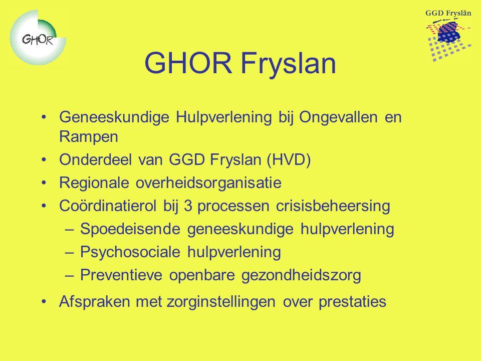 GHOR Fryslan Geneeskundige Hulpverlening bij Ongevallen en Rampen