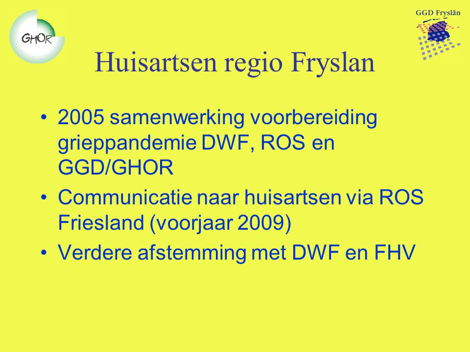 Huisartsen regio Fryslan