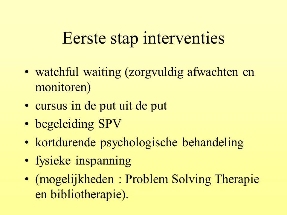 Eerste stap interventies