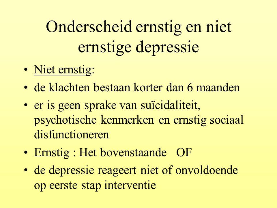 Onderscheid ernstig en niet ernstige depressie