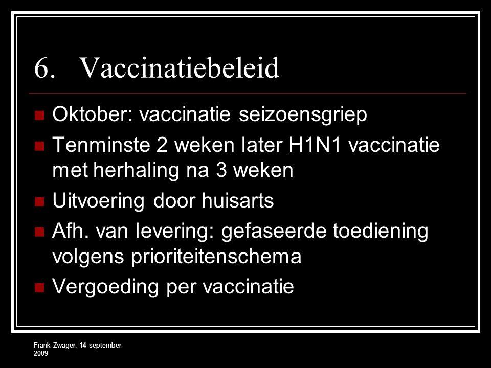 Vaccinatiebeleid Oktober: vaccinatie seizoensgriep