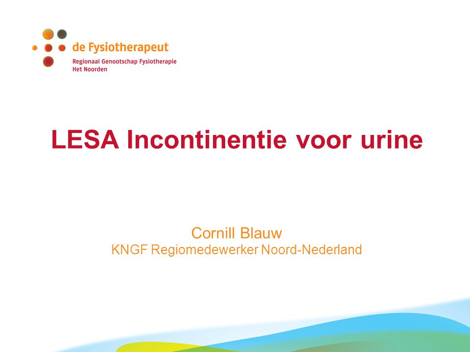 LESA Incontinentie voor urine