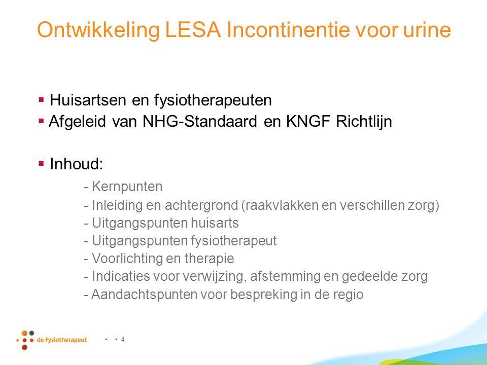Ontwikkeling LESA Incontinentie voor urine