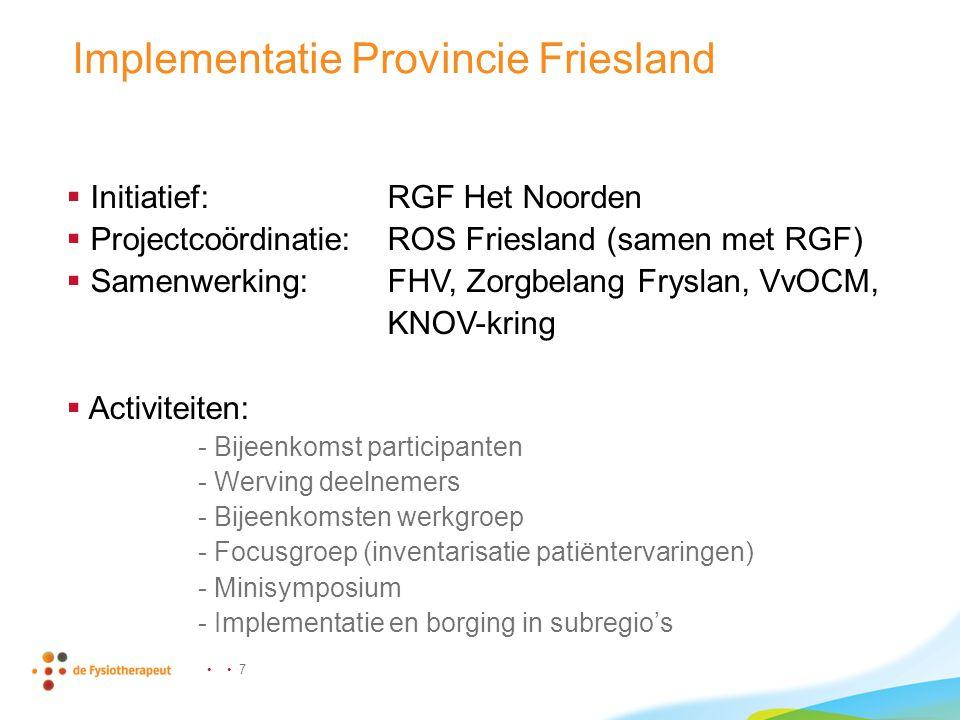 Implementatie Provincie Friesland