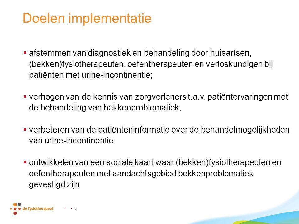Doelen implementatie