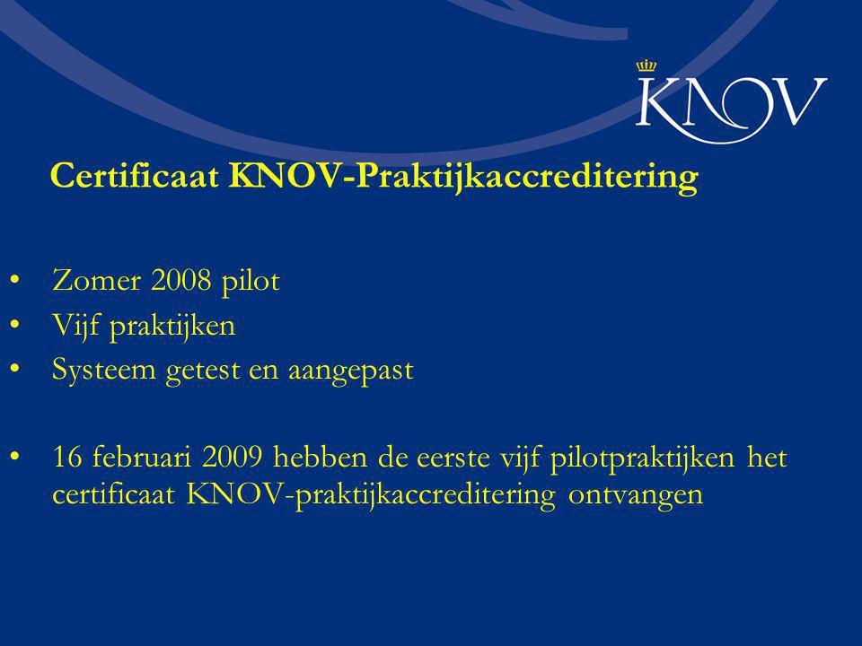 Certificaat KNOV-Praktijkaccreditering