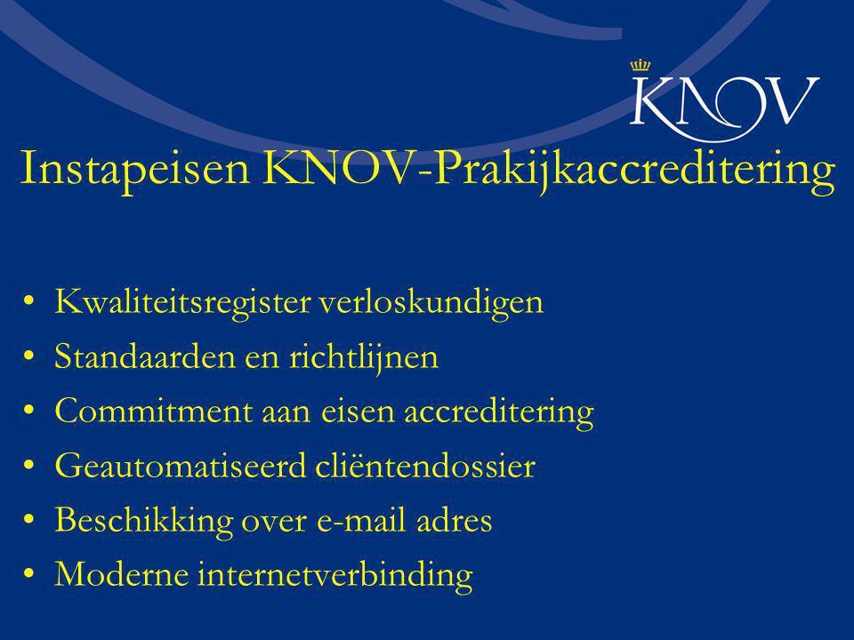 Instapeisen KNOV-Prakijkaccreditering