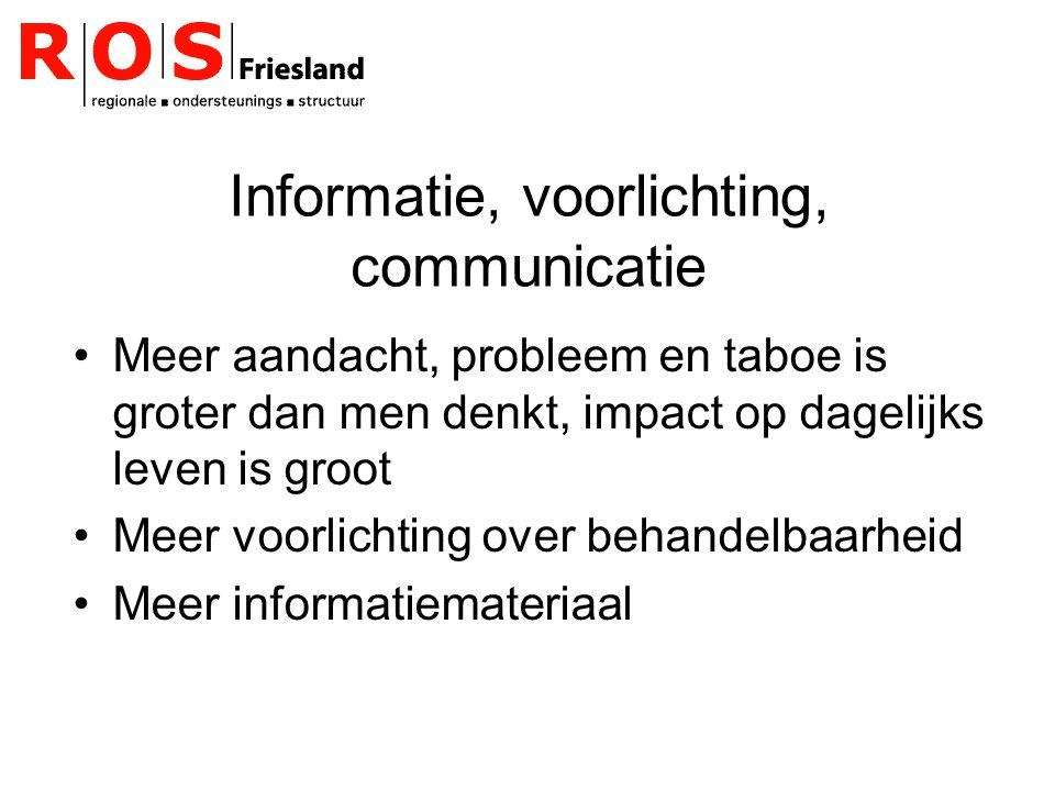 Informatie, voorlichting, communicatie