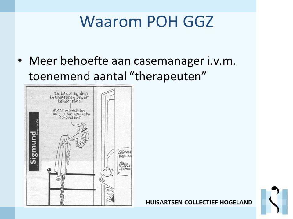 Waarom POH GGZ Meer behoefte aan casemanager i.v.m. toenemend aantal therapeuten