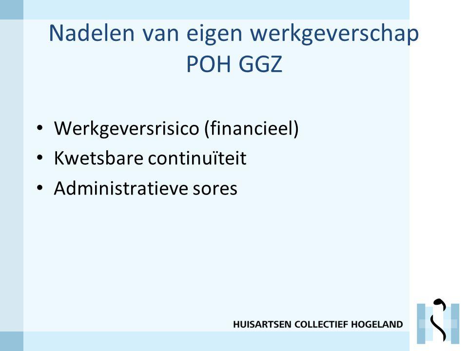 Nadelen van eigen werkgeverschap POH GGZ