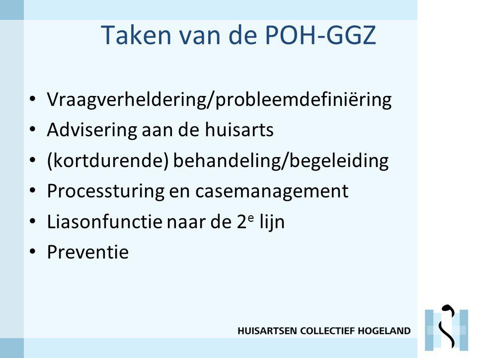 Taken van de POH-GGZ Vraagverheldering/probleemdefiniëring