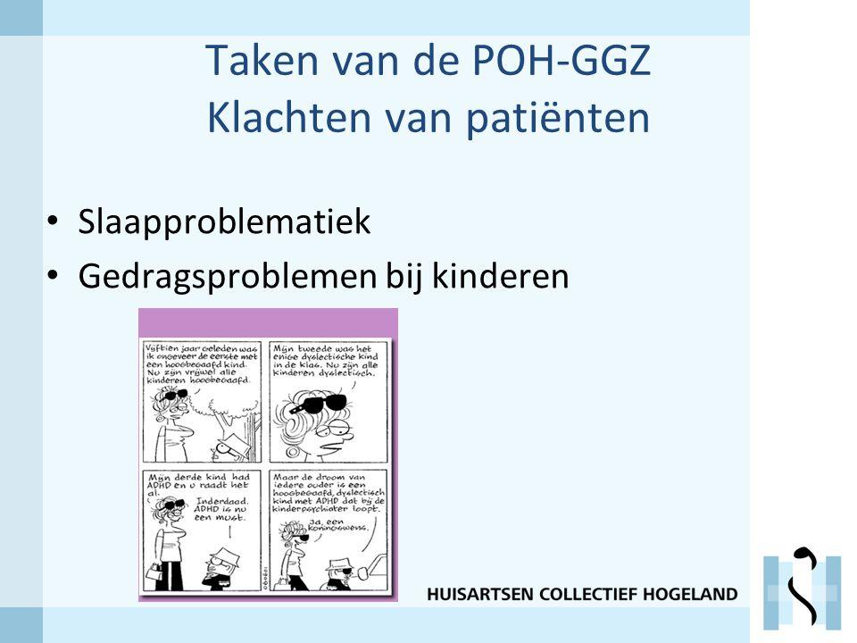 Taken van de POH-GGZ Klachten van patiënten