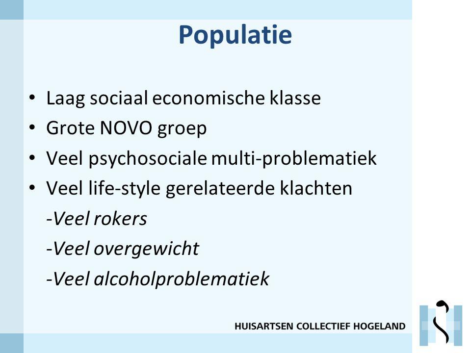 Populatie Laag sociaal economische klasse Grote NOVO groep
