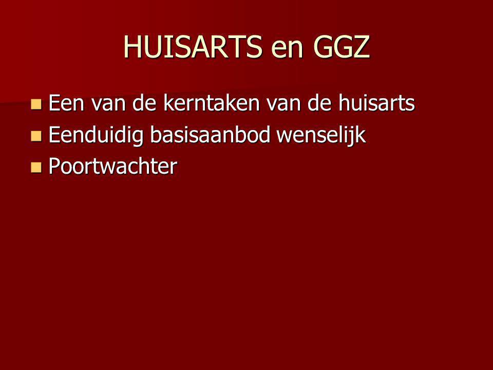 HUISARTS en GGZ Een van de kerntaken van de huisarts