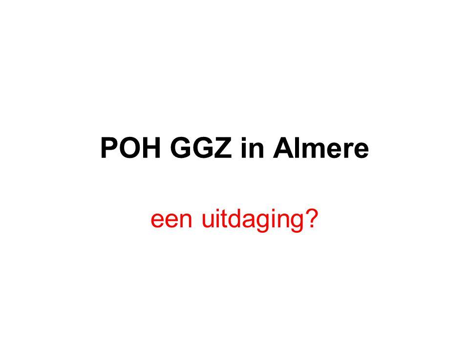 POH GGZ in Almere een uitdaging