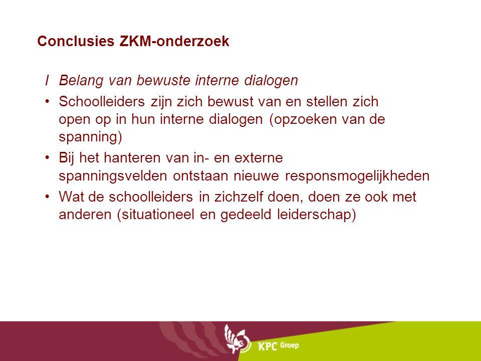 Conclusies ZKM-onderzoek