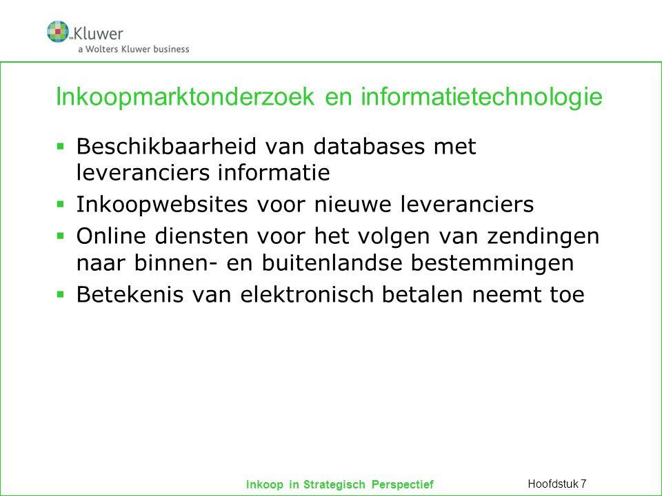 Inkoopmarktonderzoek en informatietechnologie