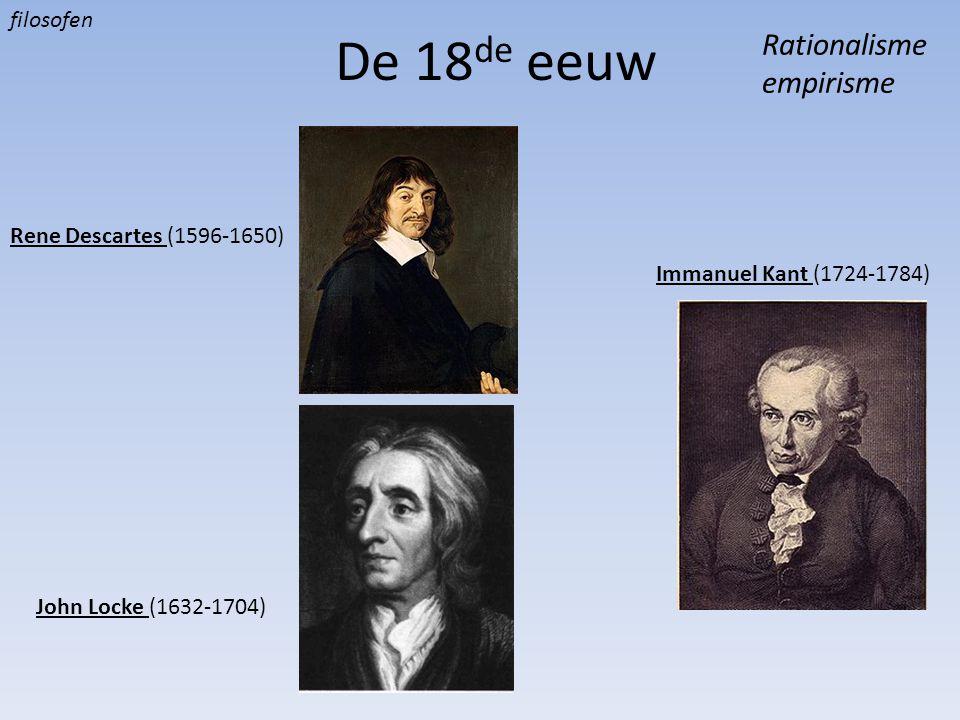 De 18de eeuw Rationalisme empirisme filosofen