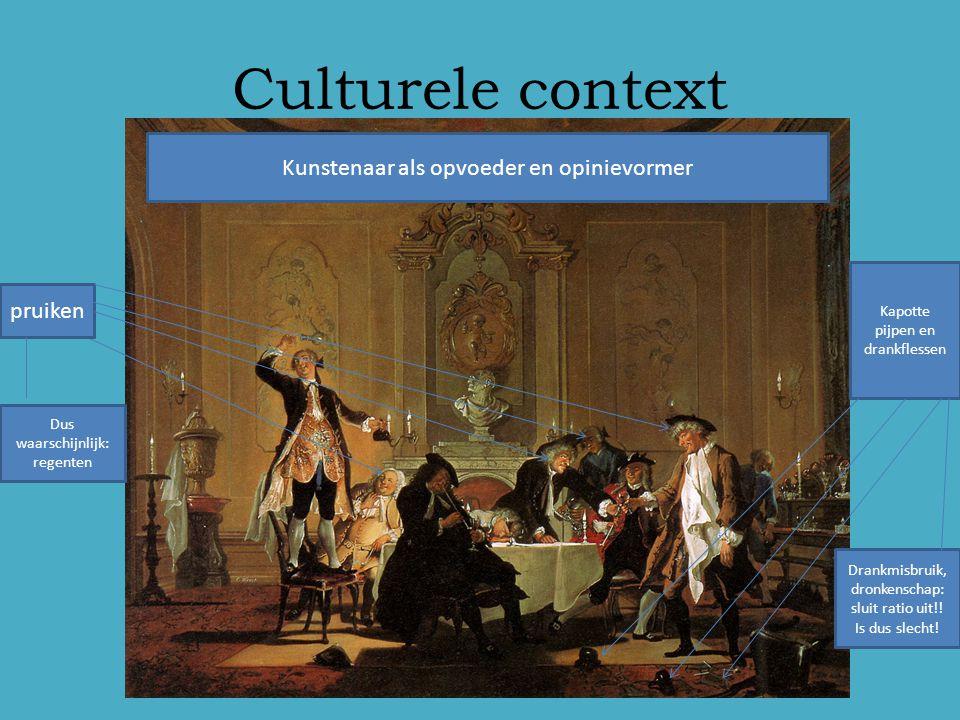 Culturele context Kunstenaar als opvoeder en opinievormer pruiken