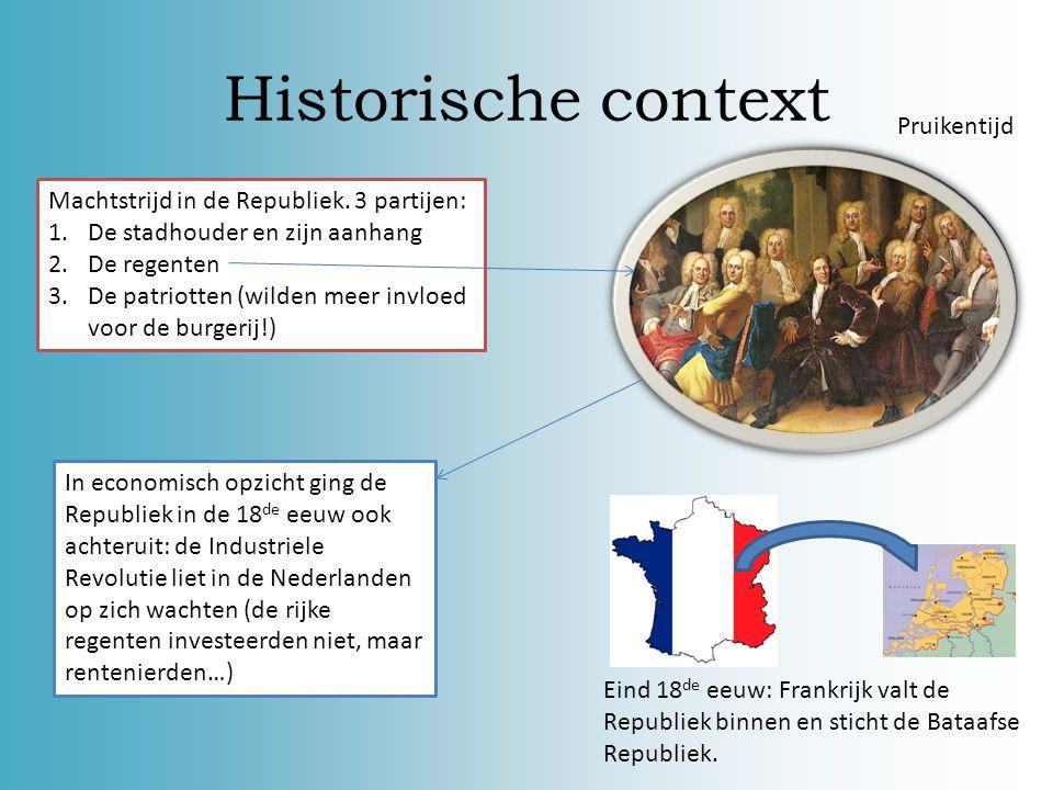 Historische context Pruikentijd