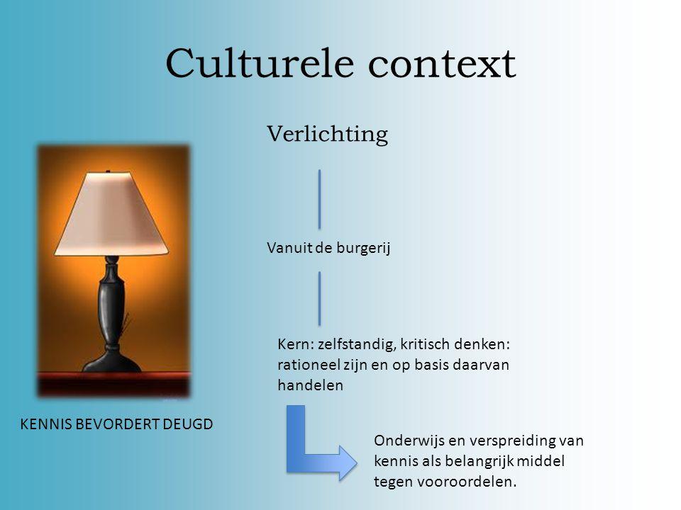 Culturele context Verlichting Vanuit de burgerij