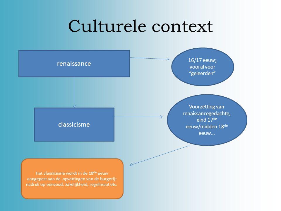 Culturele context renaissance classicisme