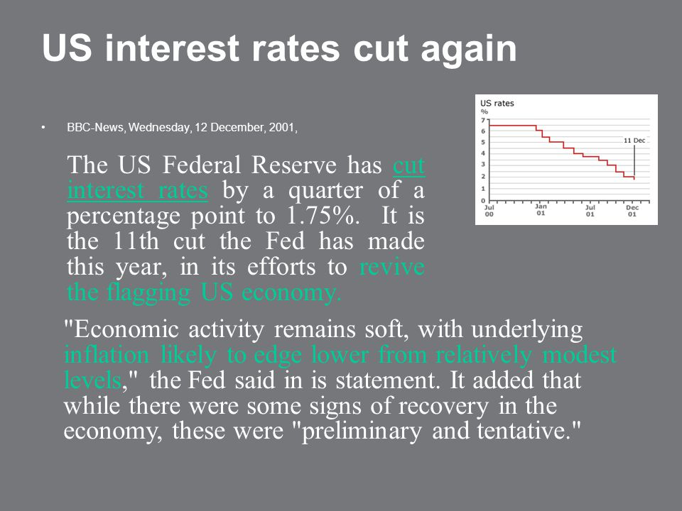 US interest rates cut again