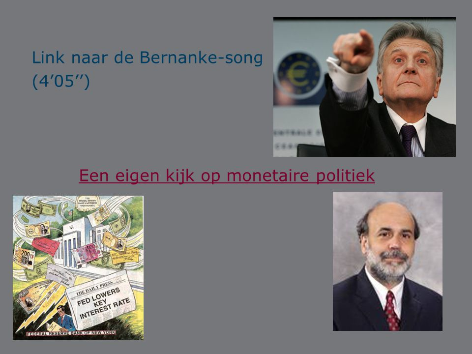 Link naar de Bernanke-song