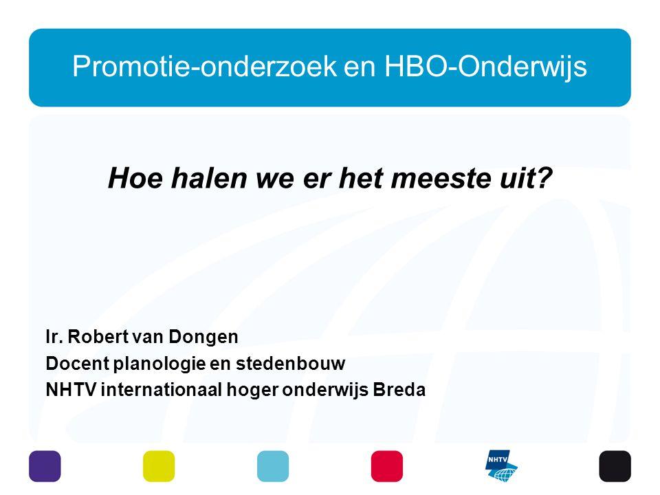 Promotie-onderzoek en HBO-Onderwijs