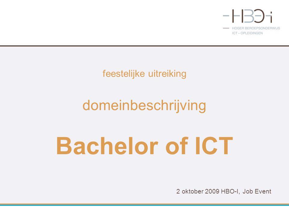 feestelijke uitreiking domeinbeschrijving Bachelor of ICT