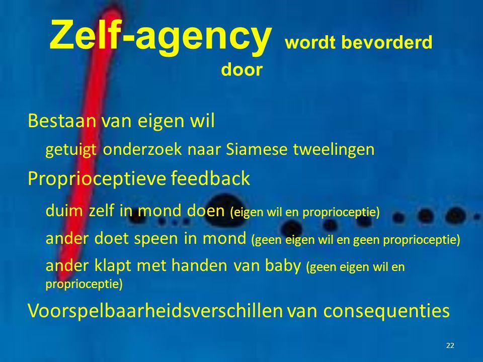 Zelf-agency wordt bevorderd door