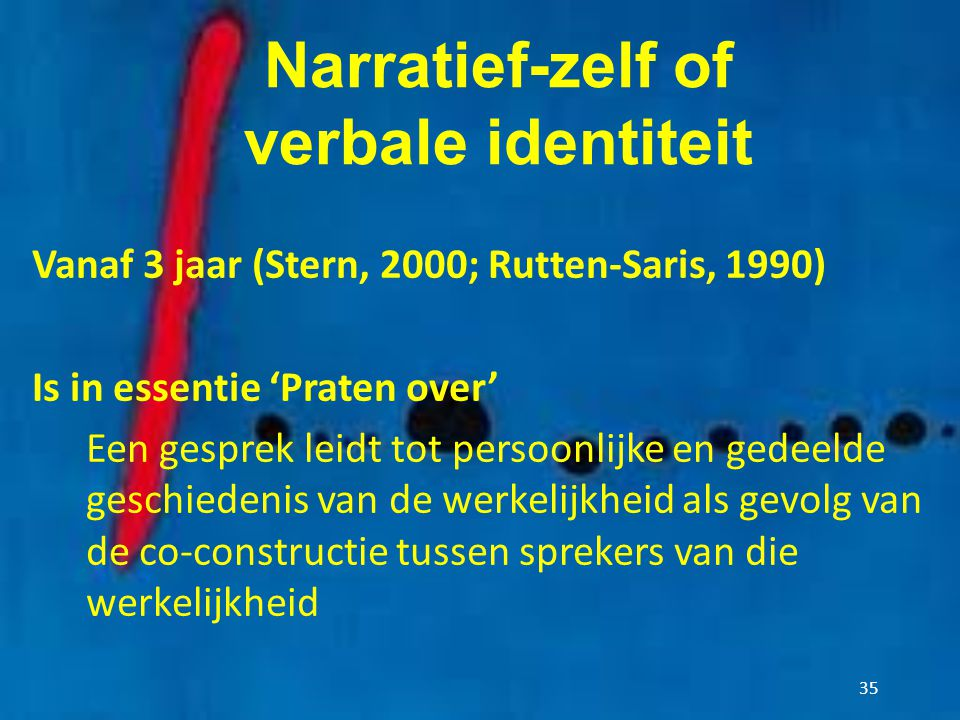 Narratief-zelf of verbale identiteit