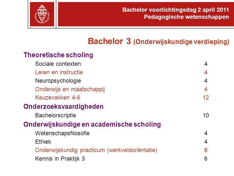 Bachelor 3 (Onderwijskundige verdieping)