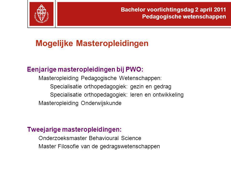 Mogelijke Masteropleidingen