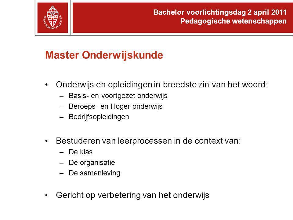 Master Onderwijskunde