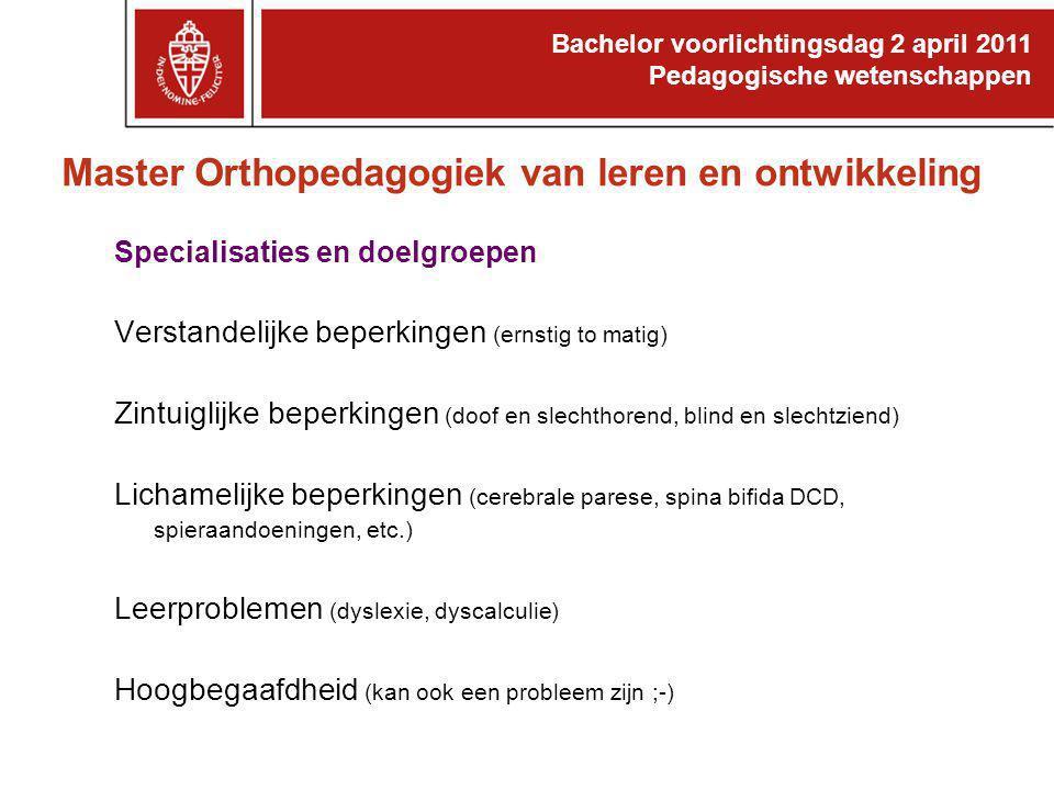 Master Orthopedagogiek van leren en ontwikkeling