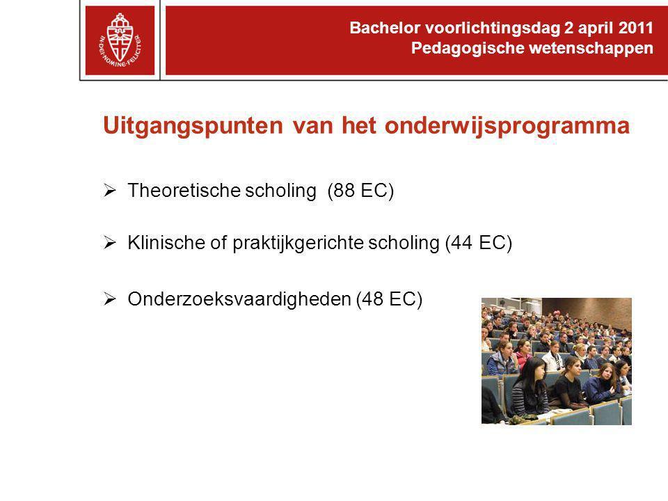 Uitgangspunten van het onderwijsprogramma