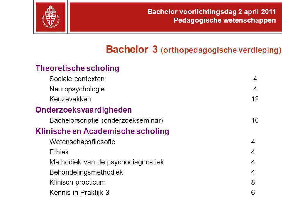Bachelor 3 (orthopedagogische verdieping)
