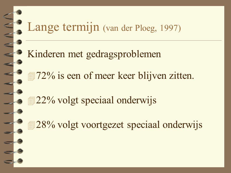 Lange termijn (van der Ploeg, 1997)